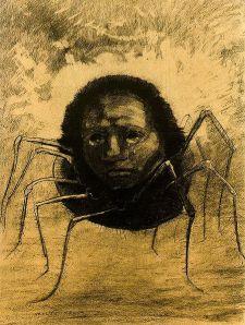 L'araignée qui pleure (Odilon Redon)